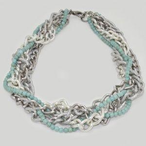 Turquoise Stone Chain Necklace by Dora By Ebru // Turkuaz Taşlı Zincir Kolye - Dora By Ebru
