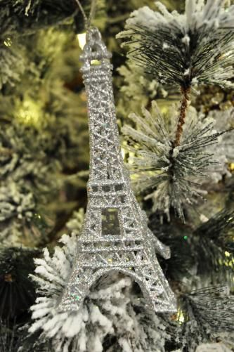Silver Eiffel Tower Christmas Silver Pinterest Silver
