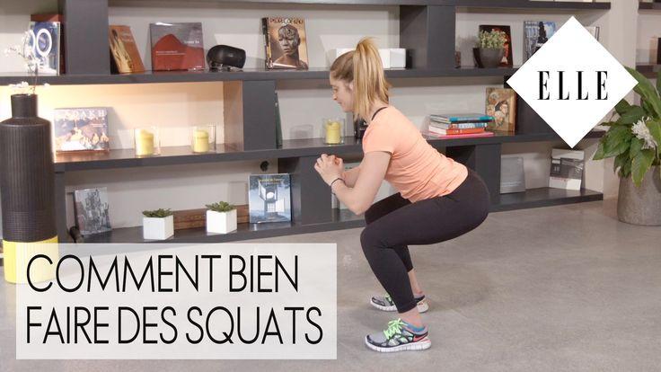 Comment bien faire des squats I ELLE Fitness
