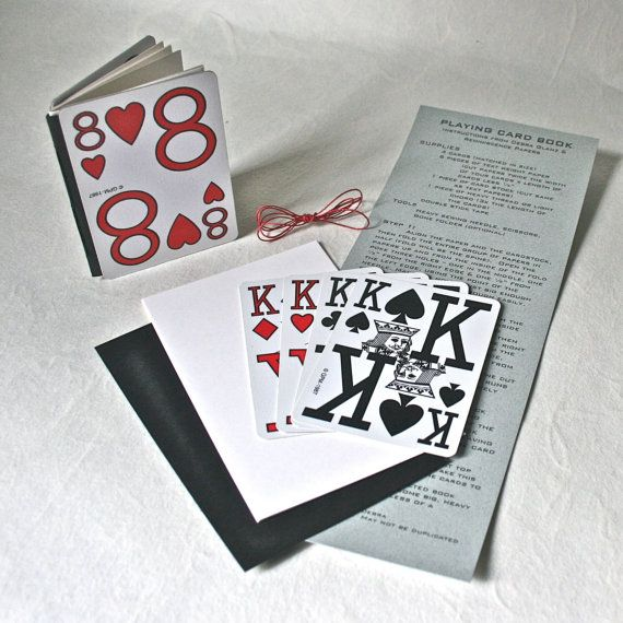 89 best playing cards images on pinterest playing card crafts diy make it yourself playing card book kit by reminiscencepapers solutioingenieria Images