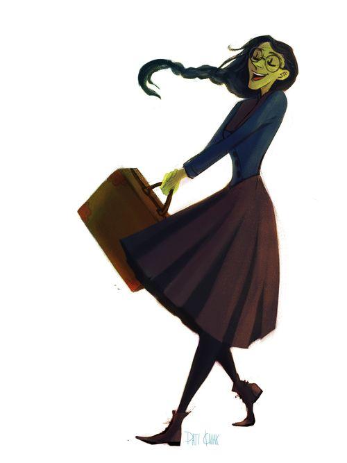 Illustration wicked elphaba glinda Character Design artists on tumblr kinda fiyero