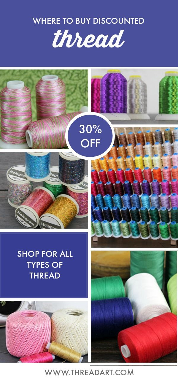 Shop Threadart Com For All Types Of Thread We Carry Sewing