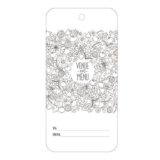 Printable gift tags - Venue & Menu