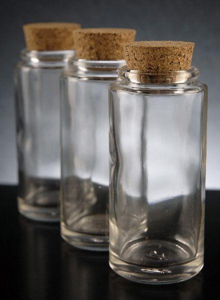 3.4 ounce  Glass Spice Jar   with cork tops $2.99 each / 12 for $1.49 each