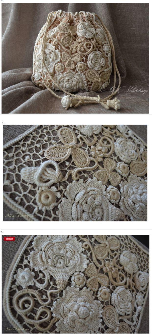 Irish crochet bag....<3 Deniz <3