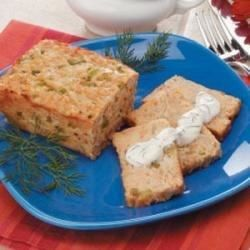 This nicely textured salmon loaf accompanied by a pleasing dill sauce is perfect for two. 'I've made it many, many times,' relates Patricia Gould of Canaan, New Hampshire.