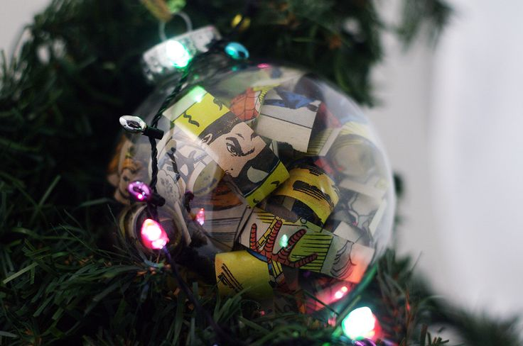 Spider-man Christmas Ornament, Comic Book Christmas Bauble, Marvel Christmas Ornament, Shatterproof Ornament, Geek Christmas Bauble by AsymmetricalBalance on Etsy