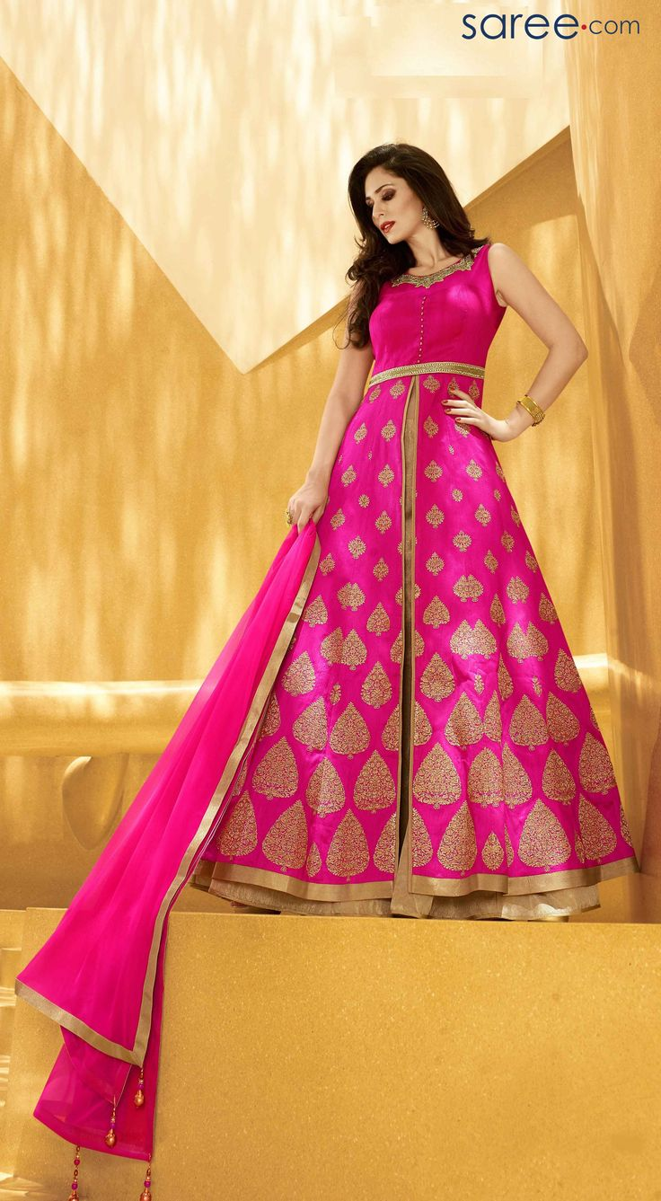 PINK SILK SUIT WITH ZARDOSI WORK #Salwarsuit #Anarkali #Anarkalisalwarsuit #salwarkameez #salwar #suit #Fashionindia #Indianfashion