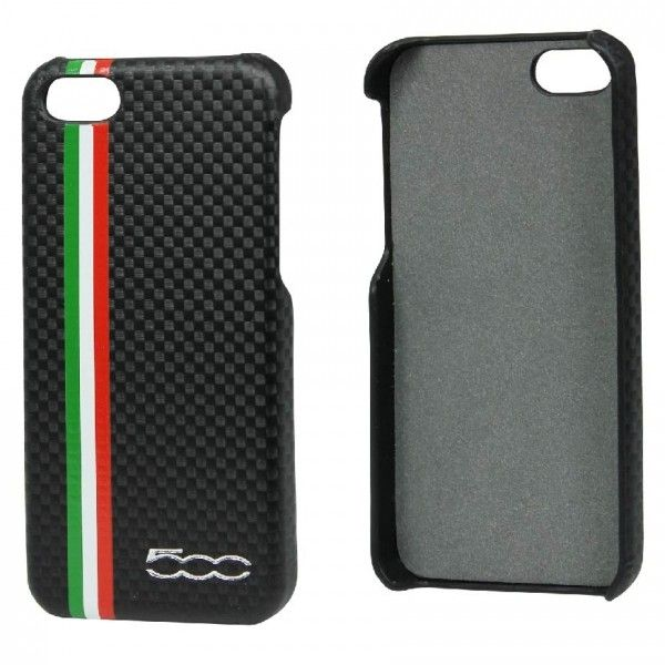 Fiat Back Case Carbon Black voor Apple iPhone 5S / 5