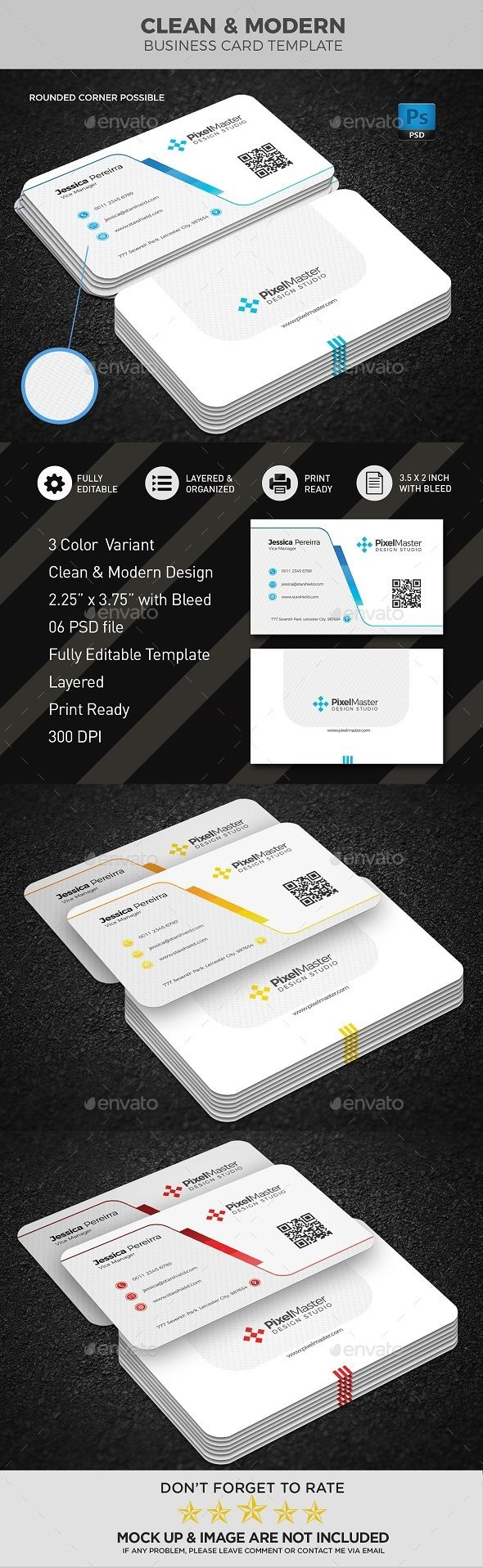 Business Card Template #new #proposal  • Download here → https://graphicriver.net/item/business-card-template/20621427?ref=pxcr