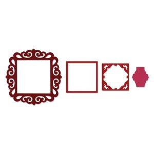 Sizzix Framelits Die Set 4PK - Frame, Fancy Square �14.99