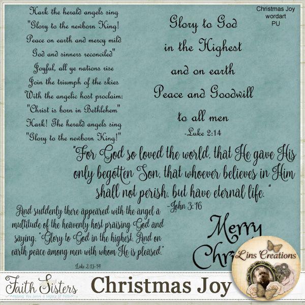 Christmas Joy wordart