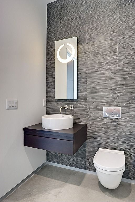 25 best ideas about modern powder rooms on pinterest for Vinyl grasscloth wallpaper bathroom