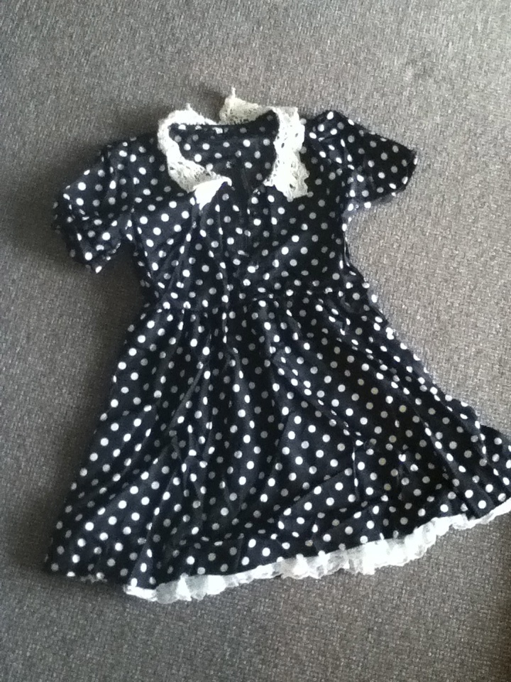 wholesale-dress.net haul and review, navy and white polka dot dress