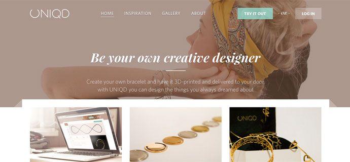 UniqD är en ny svensk e-handel som gör det möjligt att skapa och köpa personliga produkter. Med hjälp av en applikation låter man sina kunder designa och skräddarsy sina egna armband som sedan skrivs ut med hjälp av en 3D-skrivare.