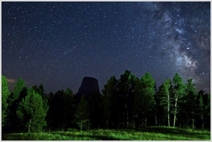 Night View over Devils Tower