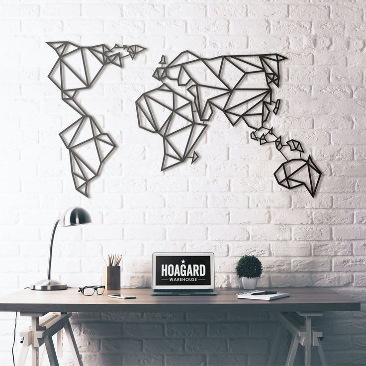 Metal Wall Art - World Map