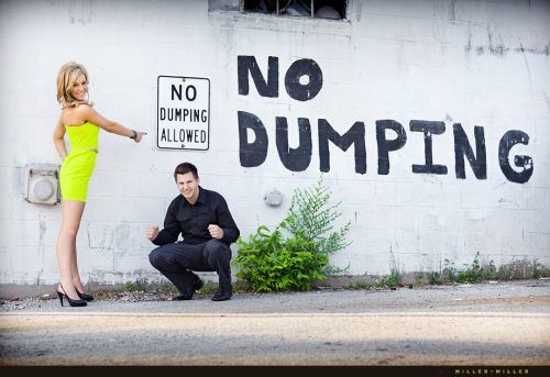 """Article: """"Engagement Photos aren't for Everyone"""" from The Chive. Obviously..."""