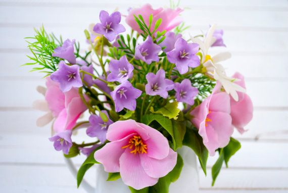 Arrangement de fleurs sauvages Daisy campanule par WowBloomRoom