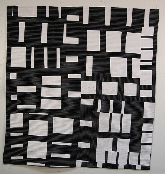 Black and white quilt gail baar