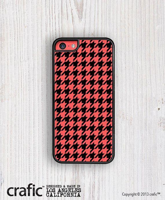 Retro Red Houndstooth iPhone 5C Case