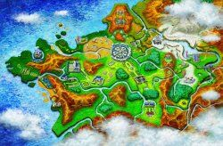THE KALOS REGION-This region, loosely based upon the real world location of France, is a massive region with loads of cities to explore. It has factories, cities, caves and everything all dotted around. The Kalos region is in fact so large, that it actually has separated its own Pokédex into three parts; Central Kalos, Coast Kalos and Mountain Kalos.