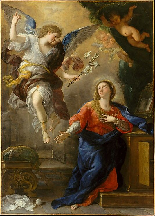 Luca Giordano - The Annunciation (1672):