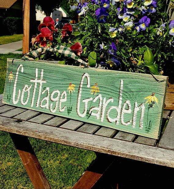 Cottage Garden Gift Rustic Home Wood Decor Rustic Spring Decor Rustic Custom Sign Personalized Outdoor Sign Custom Sign Unique Home Decor In 2020 Rustic Spring Decor Custom Rustic Signs Vintage Wood Signs