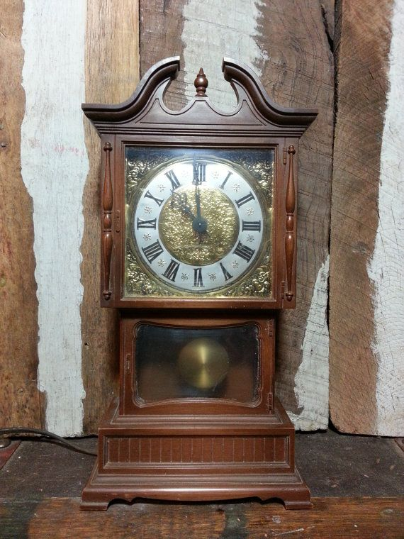 Awesome Vintage Sunbeam Electric Plug In Mini Miniature 10 Ornate Tabletop Table  Shelf Counter Grandfather Mantle Clock