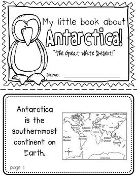 Antarctica Booklet (A Continent Study!) -- Use during social studies units about countries around the world! TeachersPayTeachers