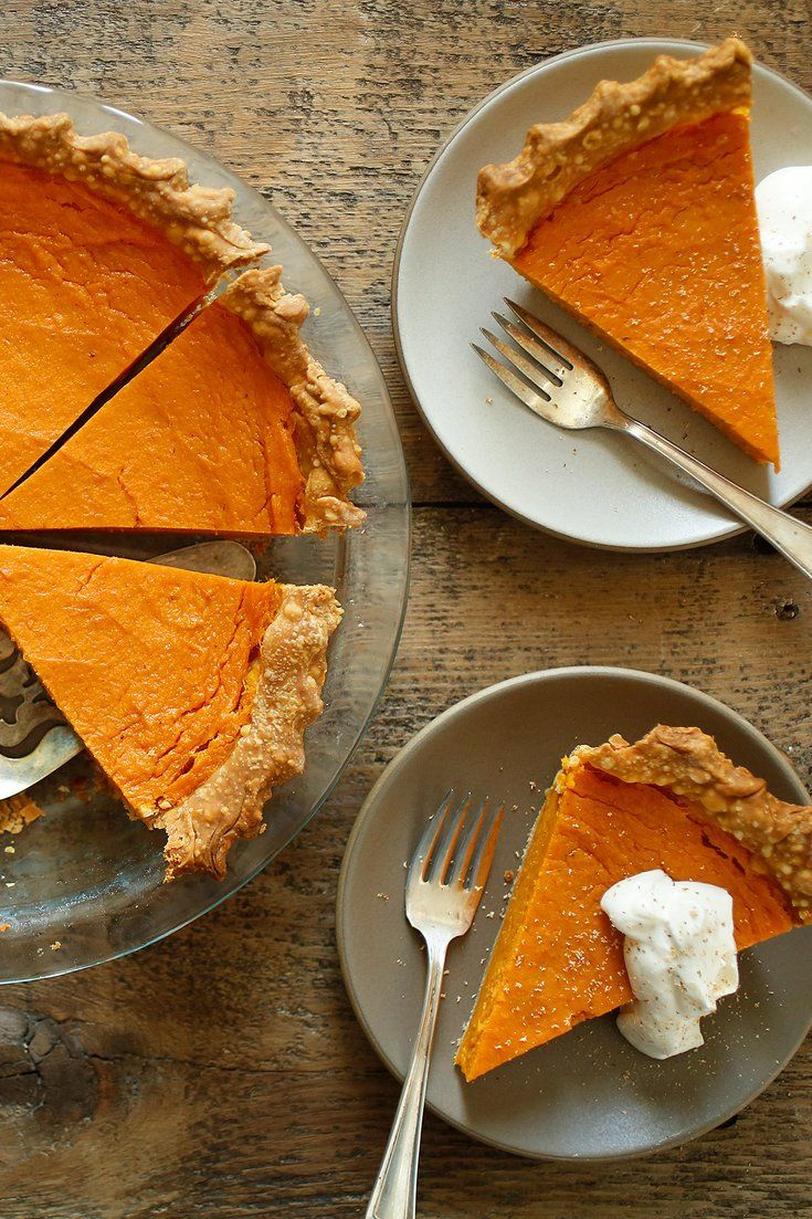 NYT Cooking: This mildly-sweet version of the classic Southern pie has a crisp crust and a filling that's surprisingly light. It's rich with egg and boldly spiced with nutmeg, but as fluffy as chiffon (a quality owed to the baking powder in the filling). This means you'll probably have room for two (or three) pieces. <br/><br/>(Don't let making your own pie crust intimidate you: our%...