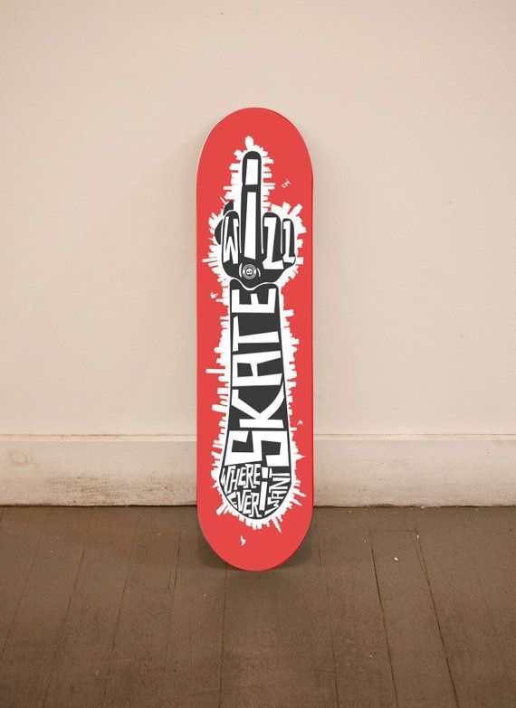 FU board custom skateboard deck #skate #board #typography