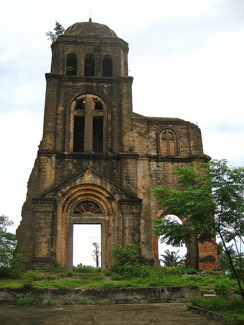 Tam Toa church ruins, Dong Hoi    Apparently, this is the only thing that remained standing after American troops bombed this area of Dong Hoi. The entire village around the church was destroyed.