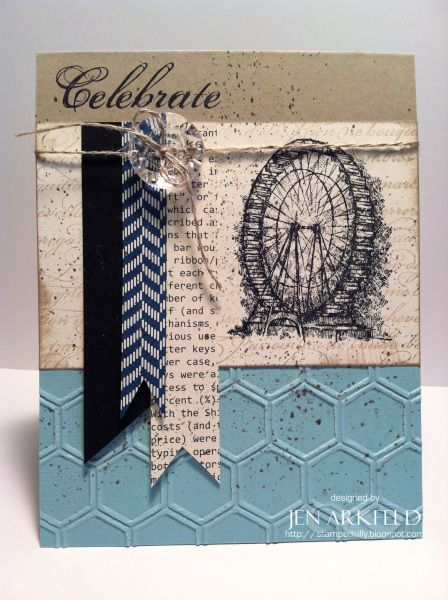Love this card, and I have the stamps and the beehive embossing folder!