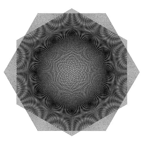 The Beauty of Kinetic Geometry Rotating radial hexagon with moiré effects