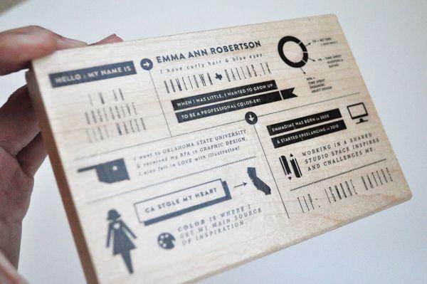 Emma Ann Robertson promo stamp