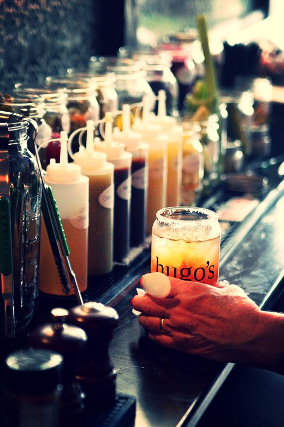 The extensive bloody mary bar at Hugo's | © Christopher Hornaday