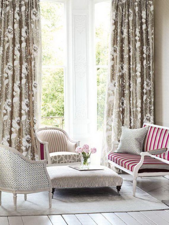 best window treatments 2014   The Best Living Room Window Treatment Ideas