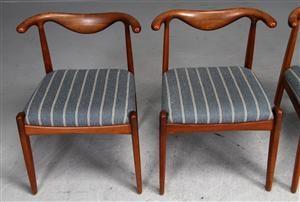 Lauritz.com - Moderna bord och stolar - Dansk møbelproducent. Stole af teaktræ (4) - DK, Helsingør, Støberivej