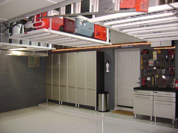 Creative Overhead Garage Storage Ideas Ceramic Tile Floor U2013 Home And  Interior Design Ideas