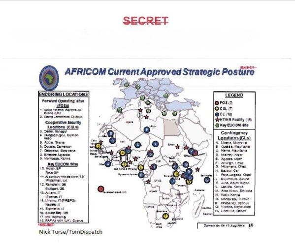 AFRICOM – Ces bases militaires américaines qui entourent l'Algérie  JE LE REDIT ILS SONT PARTOUT   LES NEOCONS POUR METTRE  LE CAHOS DANS LE MONDE