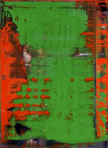 Gerhard Richter. 1996, 126 cm x 92 cm #art #abstract #orange #green #gerhard_richter