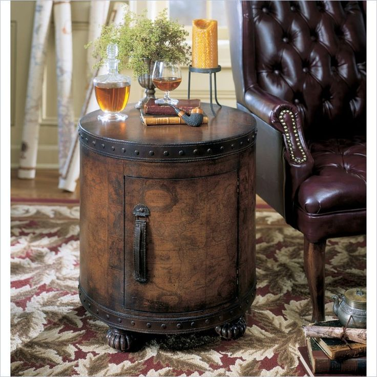 Butler Specialty Heritage Round Wood Duffel End Table In