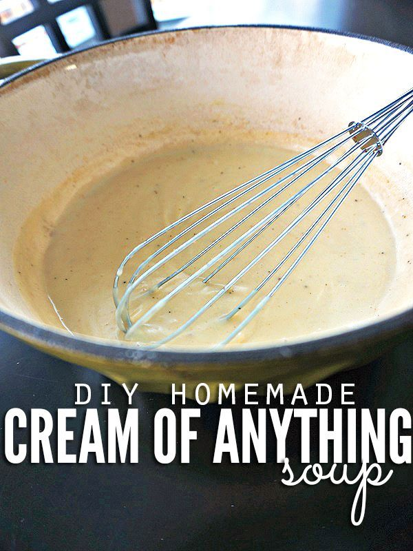 Get rid of processed cans and make your own homemade cream of anything soup in a couple minutes! You control the ingredients and flavor, meaning your favorite casseroles will be healthier and rich in flavors you like most! :: DontWastetheCrumbs.com