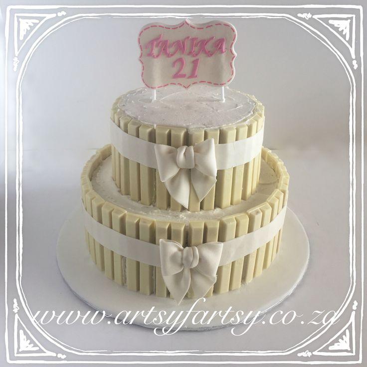 White KitKat Cake #whitekitkatcake