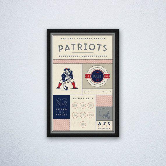 New England Patriots Stats Print by DesignsByEJB on Etsy