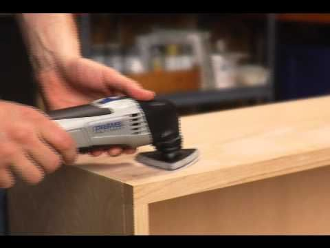 The Dremel Multi-Max is used to sand down wood for a wide variety of home or DIY projects.