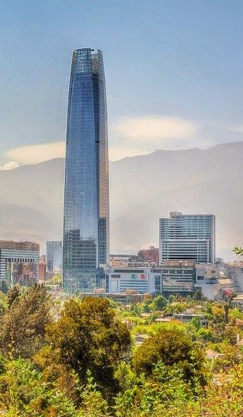 Santiago. The Costanera Tower which is the tallest in Latin America with a gorgeous Mall