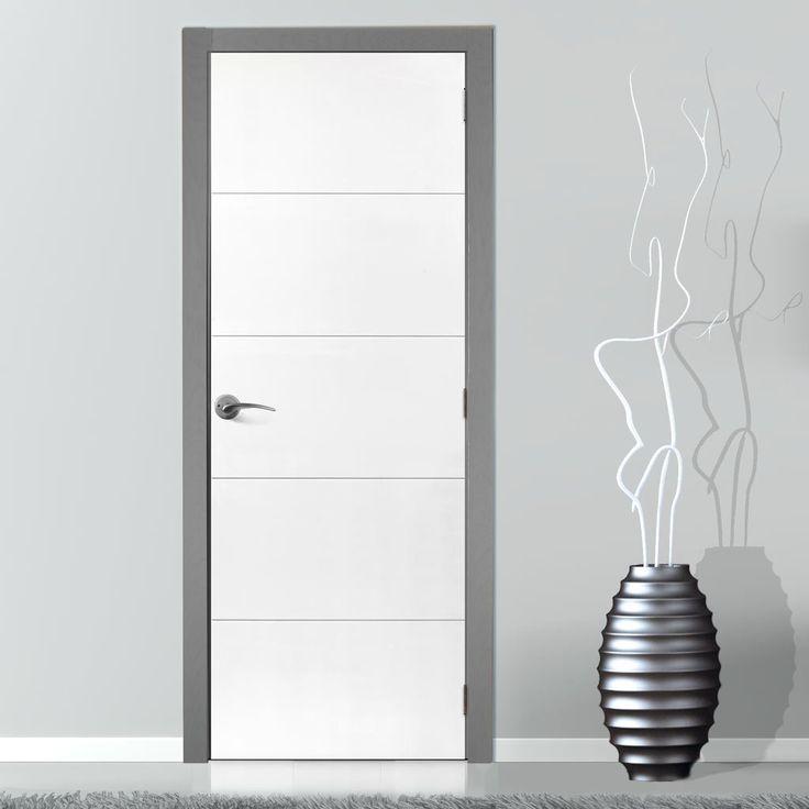 JBK Limelight Adelphi White Primed Flush Door. #whitecontemporarydoors #internalwhitedoor #whitedoor