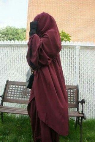 Jilbab niqab bordeau